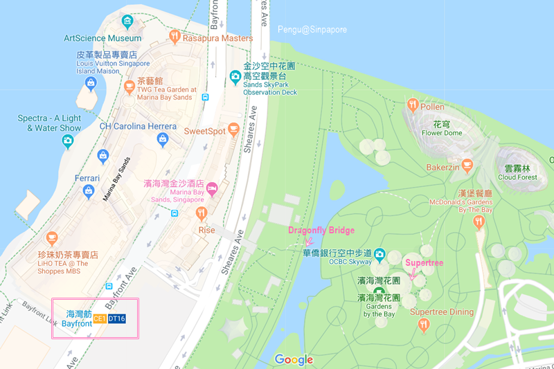 濱海灣花園地圖1