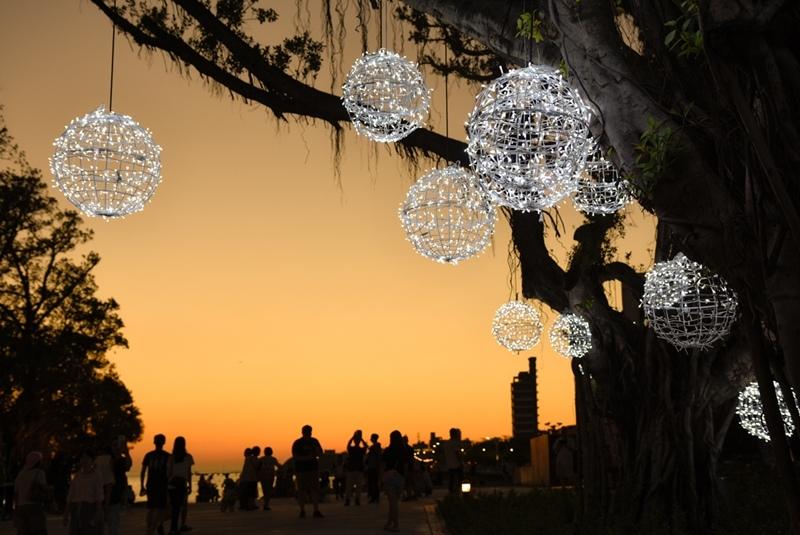 淡水海關碼頭夕陽