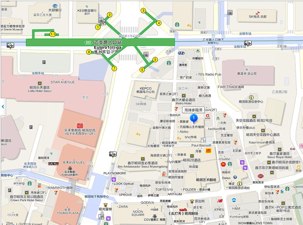 高峰蔘雞湯地圖