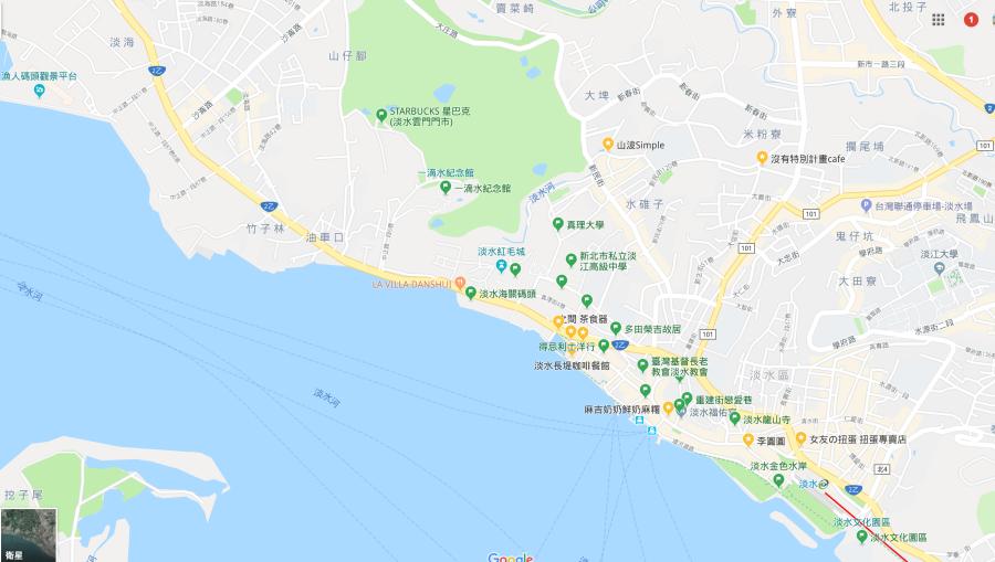 淡水景點地圖