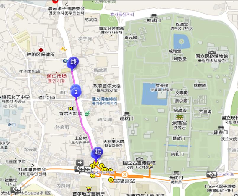 通仁市場地圖