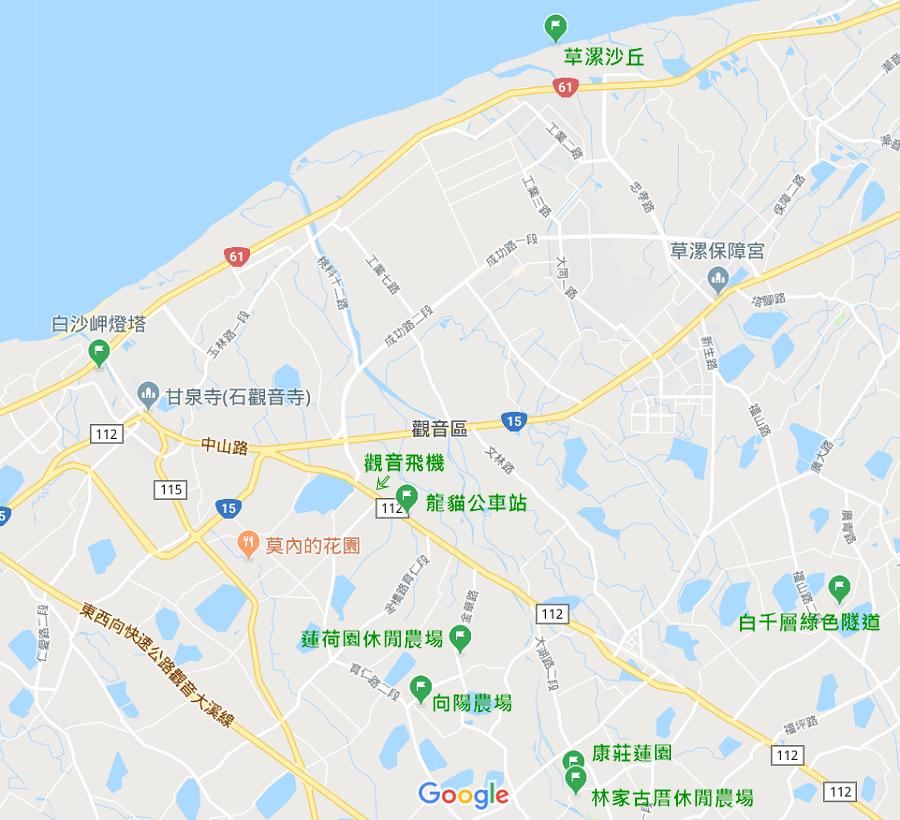 桃園觀音景點地圖