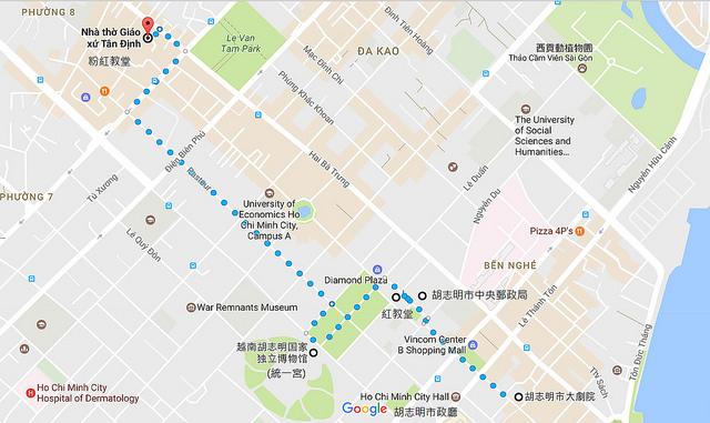 胡志明步行地圖