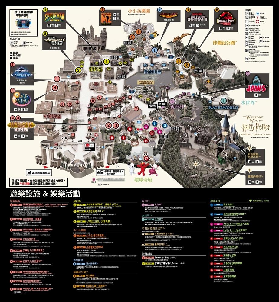 環球影城地圖