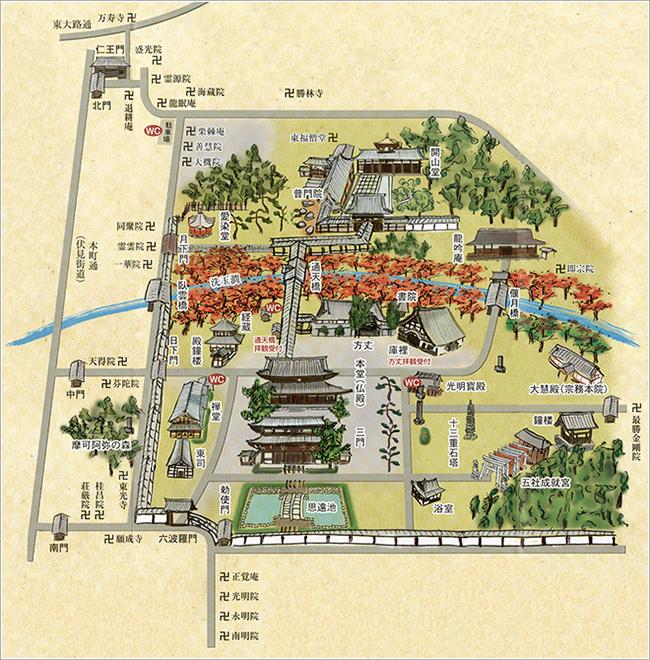 東福寺地圖