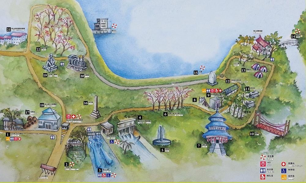 烏山頭水庫地圖