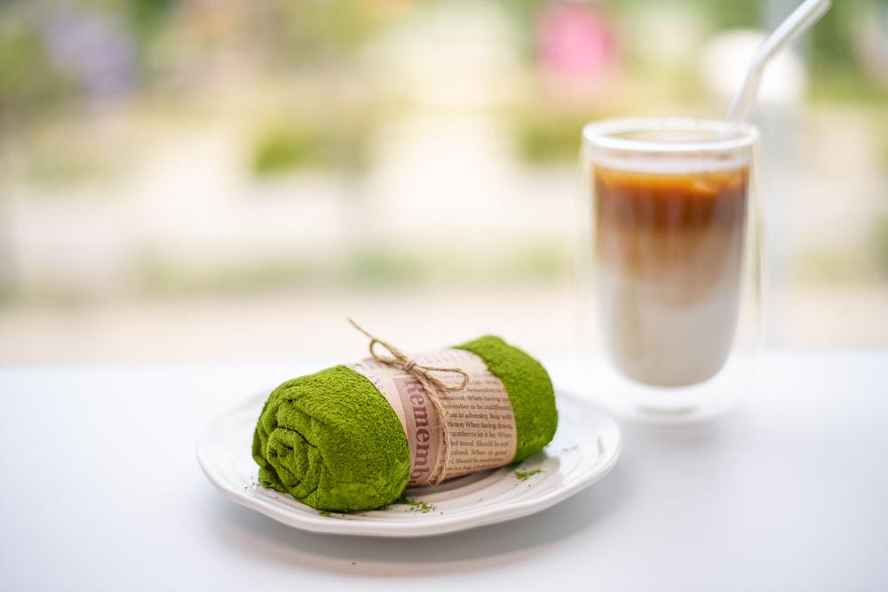 若竹抹茶毛巾蛋糕