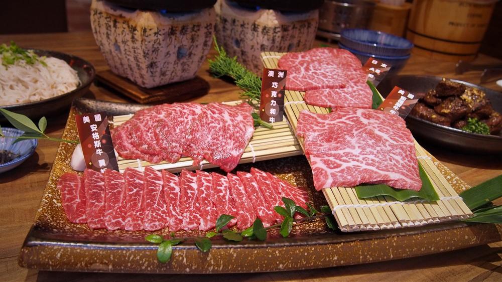 富田和牛 四盛合肉盤