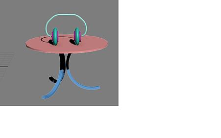 桌子&耳機