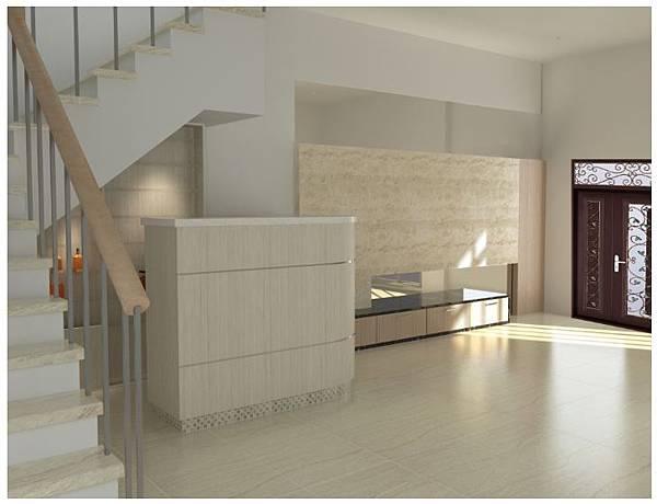 新營客廳3D簡約預覽-角度1