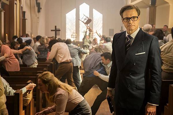 colin firth in KINGSMAN THE SECRET SERVICE_