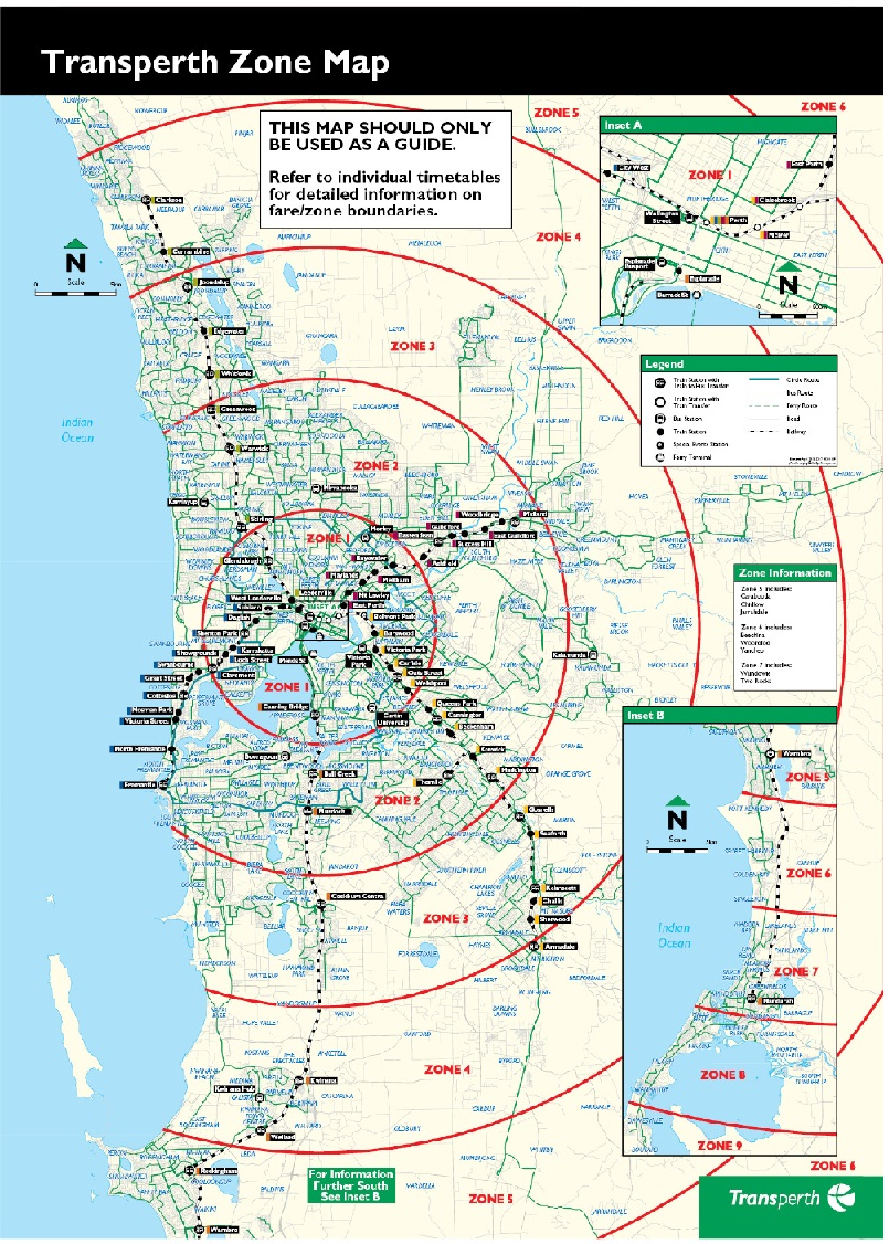 Transperth-Zone Map