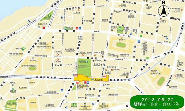 艋舺夜市地圖