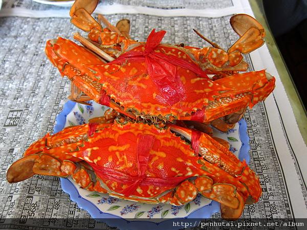 第六道菜 清蒸花蟹