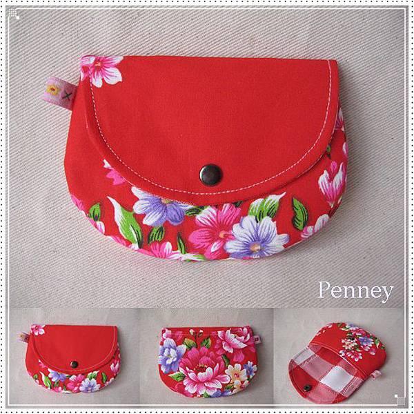 L363 110411 半圓零錢小包 紅色花布.jpg