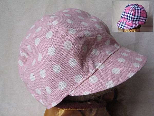 L348 110404 貝蕾帽 粉紅水玉.jpg