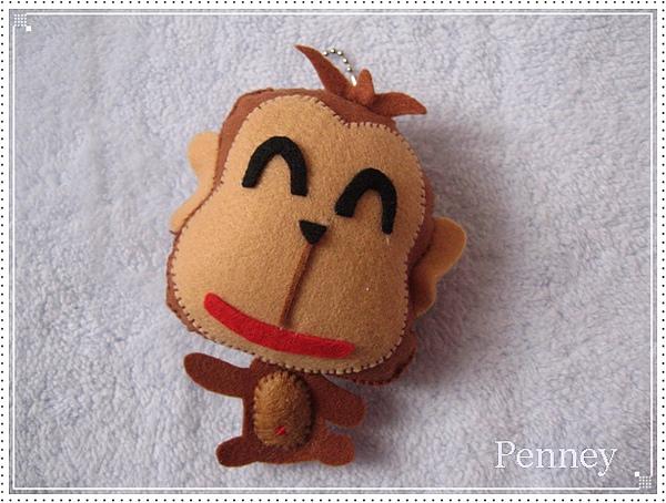 L240 110119 不織布吊飾 小猴子