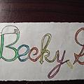 Becky G字的設計