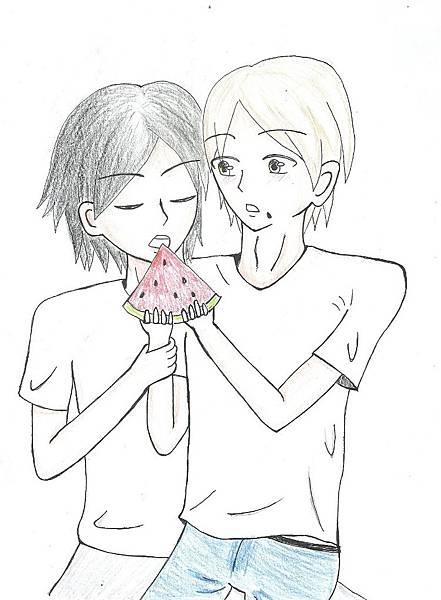 【蛇栗】吃西瓜