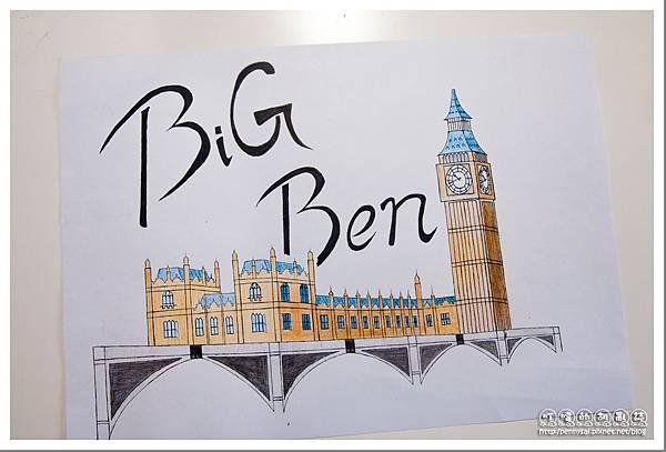 第三次的大笨鐘(Big Ben)手繪(完成)