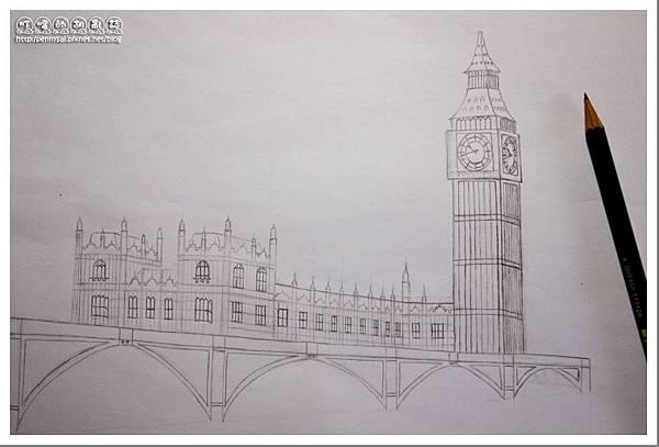 第三次的大笨鐘(Big Ben)手繪