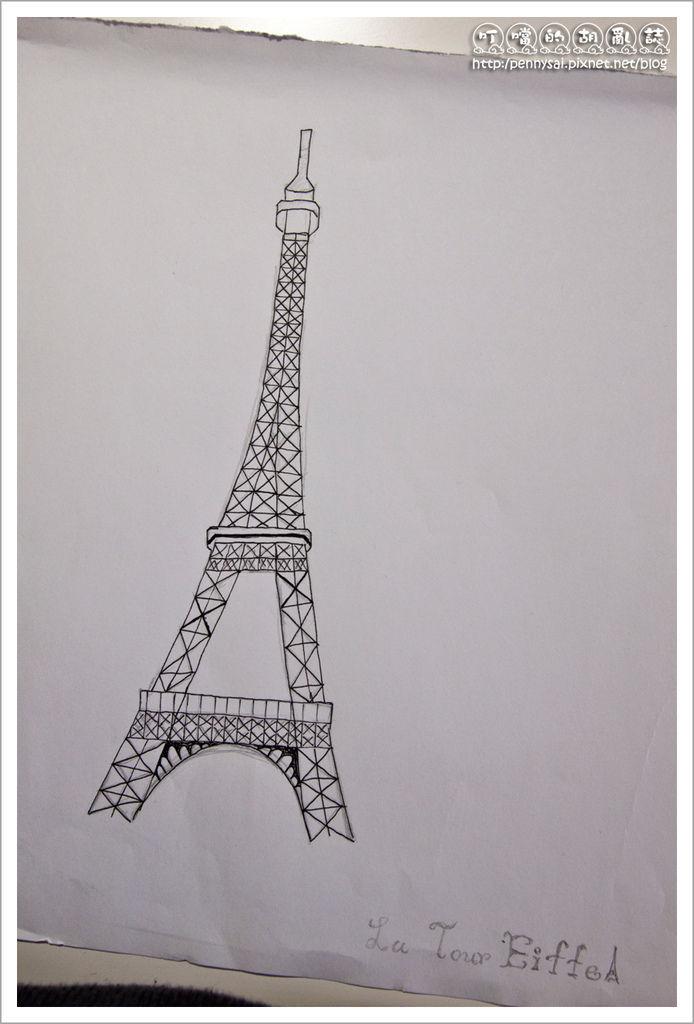 第三次畫La Tour Eiffel