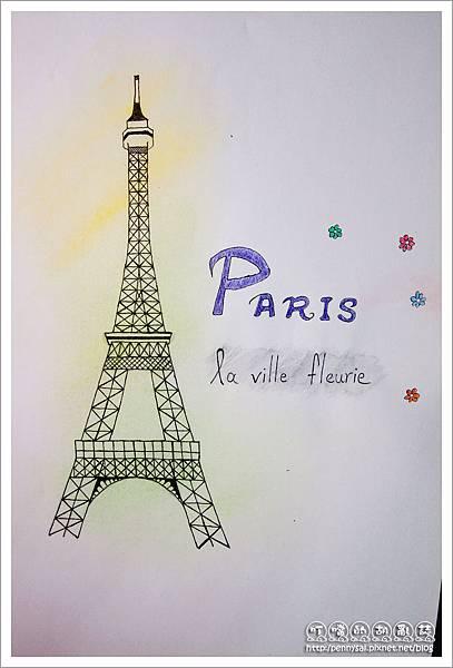 第五次的La Tour Eiffel手繪