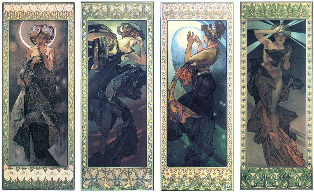 阿爾馮斯.慕夏(Alphonse Mucha) - 星辰系列(lune et etoiles)