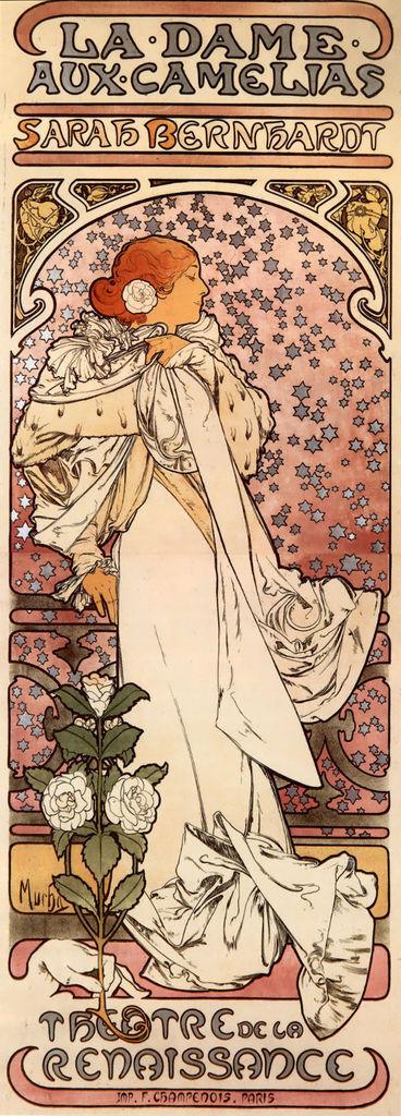 阿爾馮斯.慕夏(Alphonse Mucha) - 茶花女海報(La Dame aux Camelias)