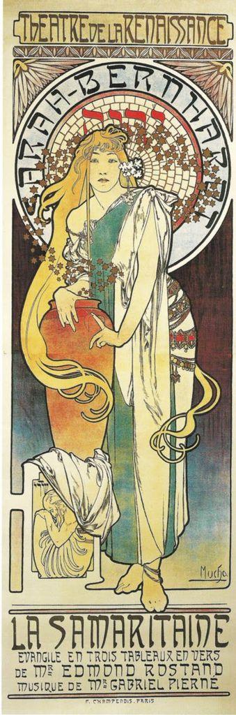 阿爾馮斯.慕夏(Alphonse Mucha) - 撒馬利亞人海報(La Samaritaine)