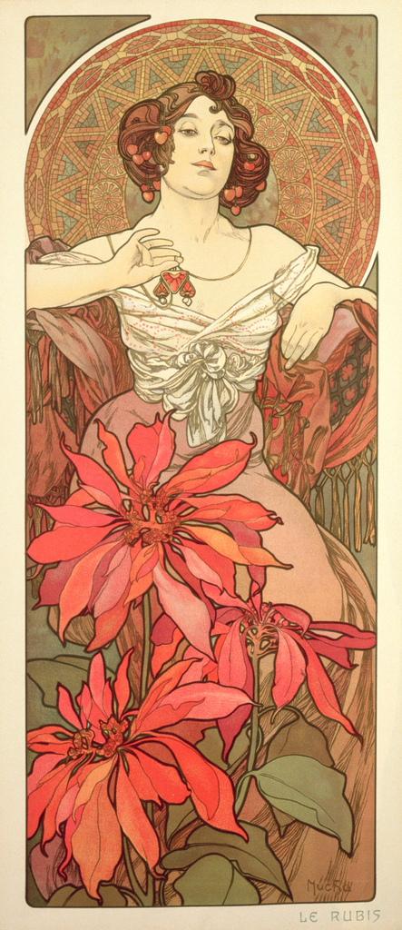 阿爾馮斯.慕夏(Alphonse Mucha) - 寶石系列.紅寶石.jpg