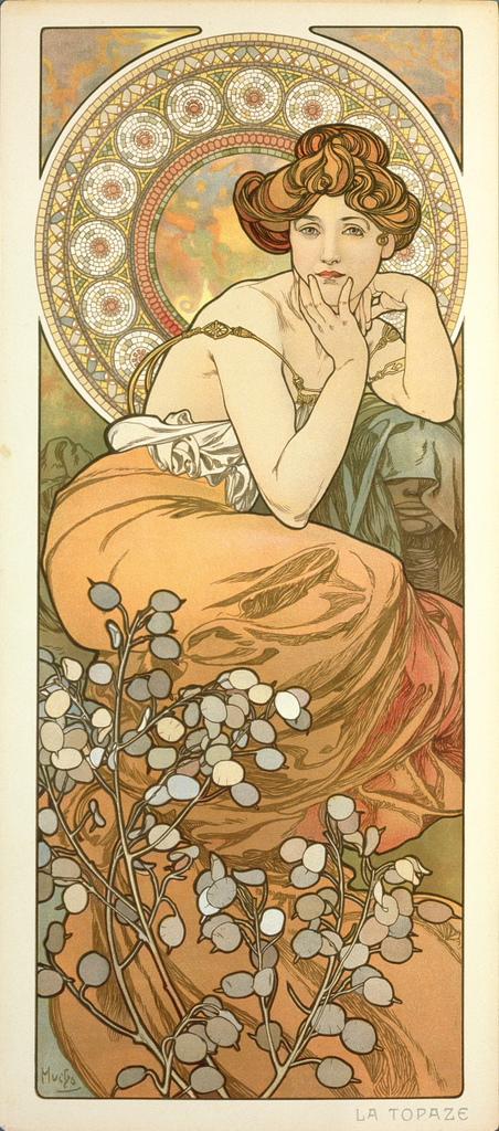 阿爾馮斯.慕夏(Alphonse Mucha) - 寶石系列.黃玉.jpg