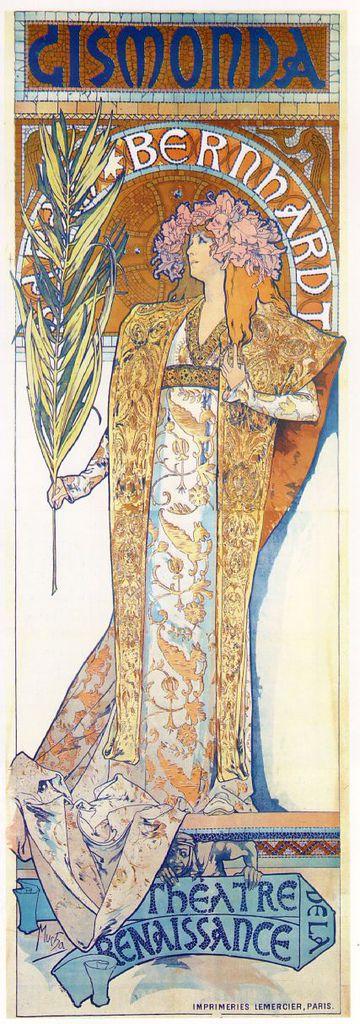 阿爾馮斯.慕夏(Alphonse Mucha) - 吉絲夢妲海報(Gismonda)