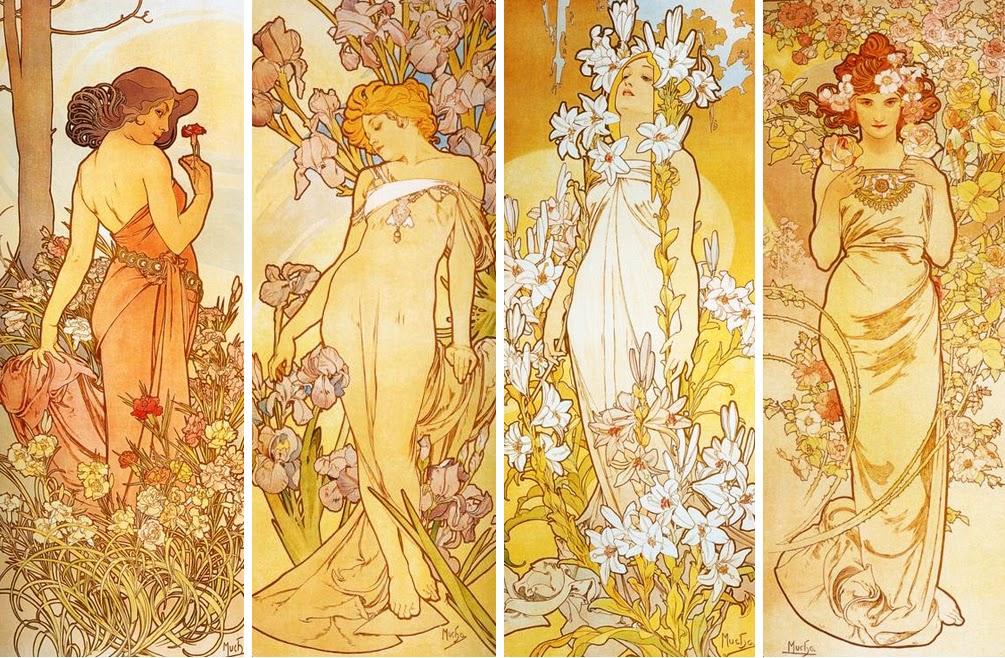 阿爾馮斯.慕夏(Alphonse Mucha) - 花卉系列(Les fleurs)