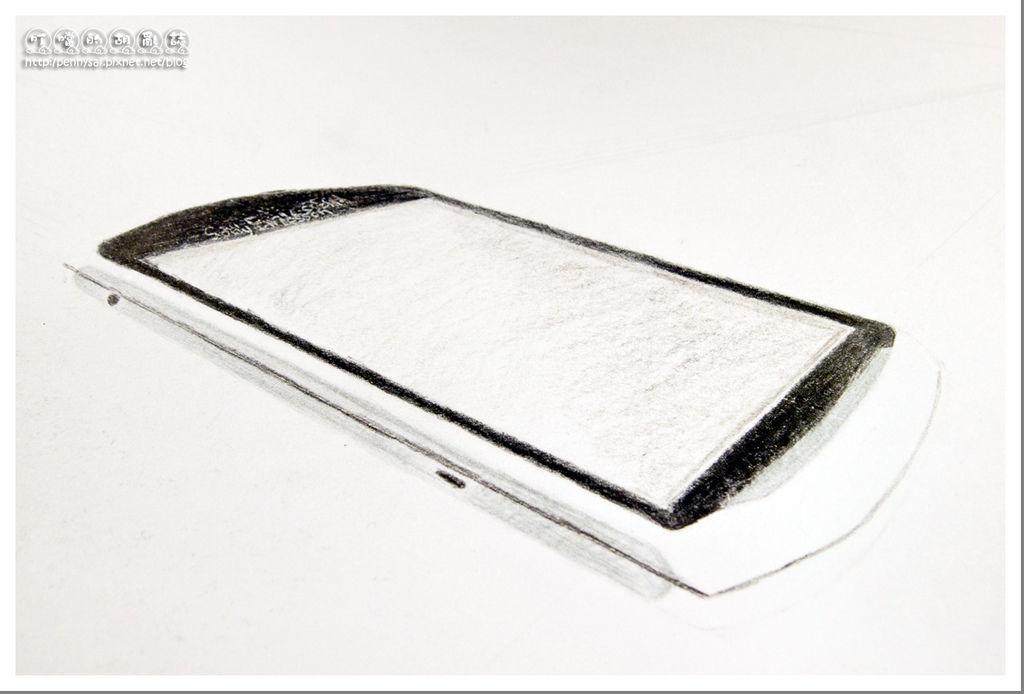 第一次畫手機-Xperia Play