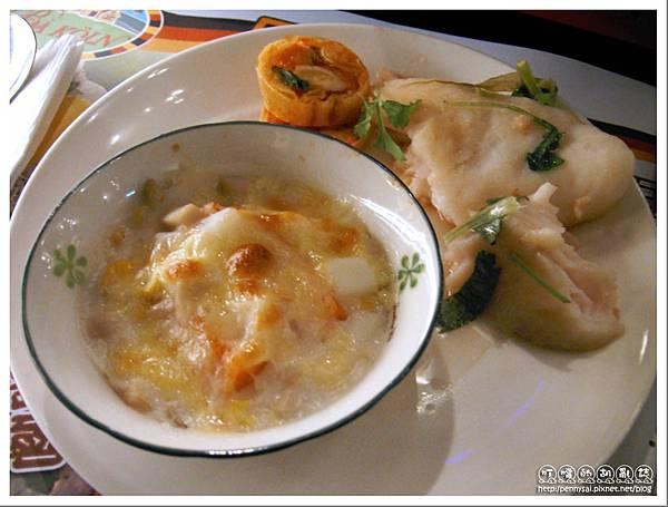 台北美食 - 巴科隆(Ba Koln) - 焗烤木瓜&清蒸多利魚.jpg