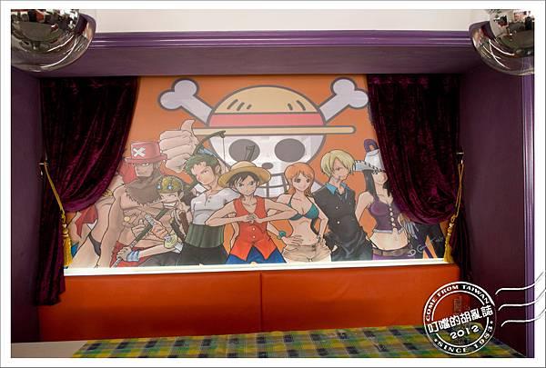 「杭州」兩岸咖啡旗下 - 卡卡與國王 西餐牛排 - 山寨海賊王塗鴉牆