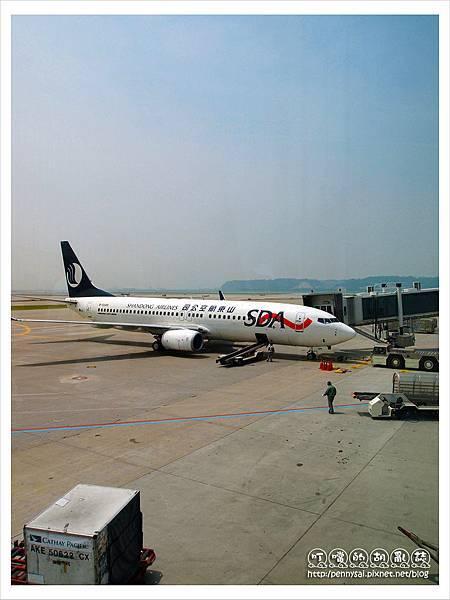 韓國之旅-仁川機場&飛機.JPG