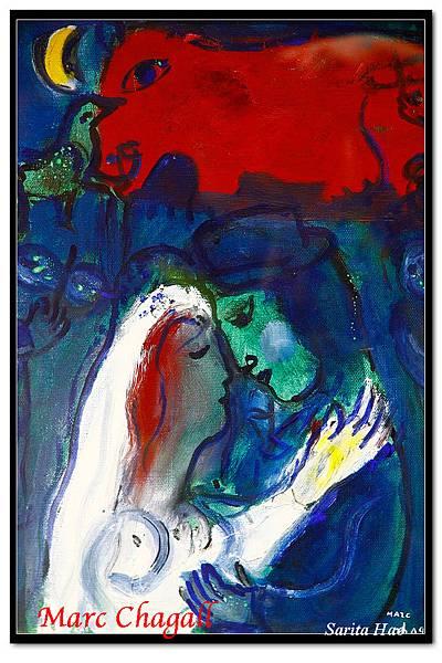 Marc Chagall - Marriage sous la lune (夏卡爾-月下婚禮).jpg