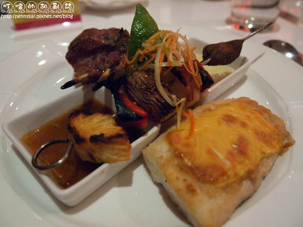 西餐廳主餐-酪烤生食級鯛魚&香烤法式羊排2.jpg