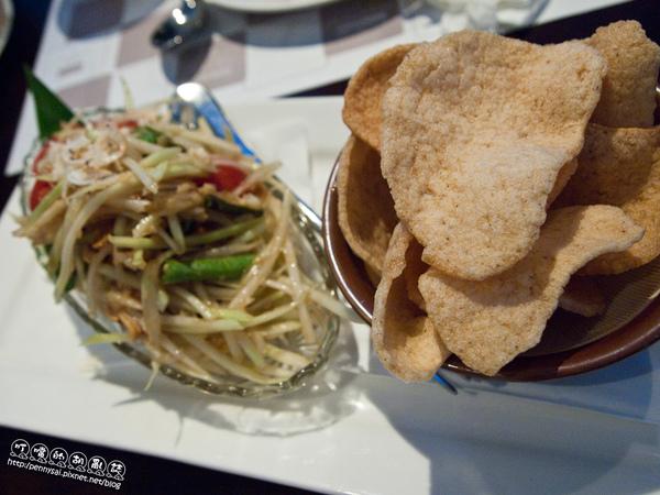 華國飯店T1泰式料理-青木瓜沙拉.jpg