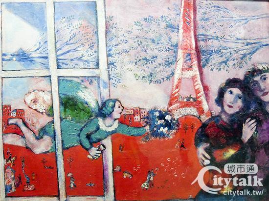 Marc Chagall - Les mariés de tour Eiffel (夏卡爾 - 艾菲爾鐵塔的新婚夫婦).jpg