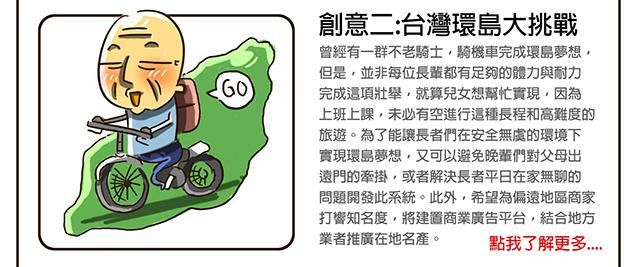 創意二:台灣環島大挑戰