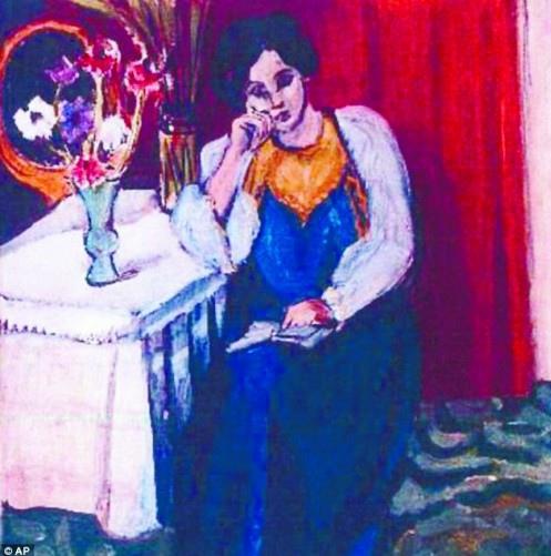 法國畫家馬蒂斯所繪的女性人物畫