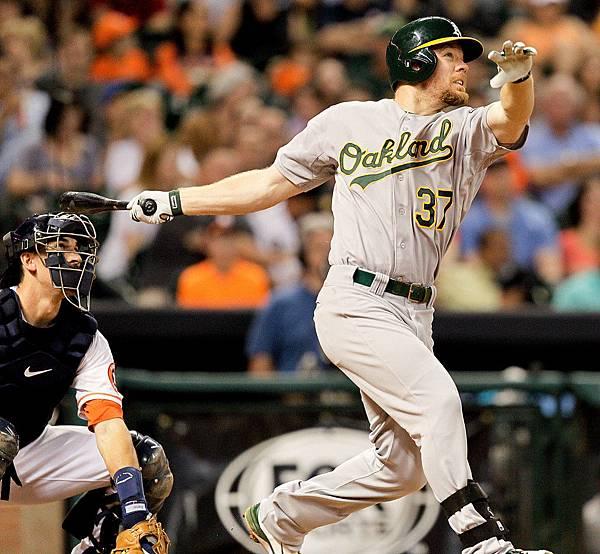 Brandon+Moss+Oakland+Athletics+v+Houston+Astros+zPOFh7HNYHJx