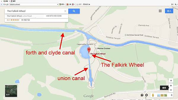 The Falkirk Wheel Map
