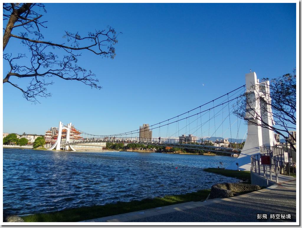 《龍潭觀光大池》【桃園‧龍潭美景】白色斜張橋
