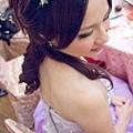 紫色千鳥花花環