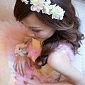 粉紅大飛燕花環