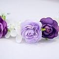 紫色薔薇花環